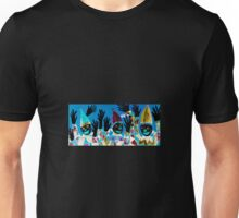What Wonderful Worlds - Clowns with Many and Strange Hands - Small Dark Unisex T-Shirt