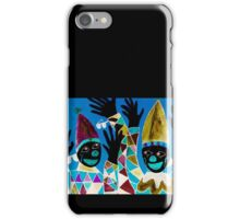 What Wonderful Worlds - Clowns with Many and Strange Hands - Small Dark iPhone Case/Skin