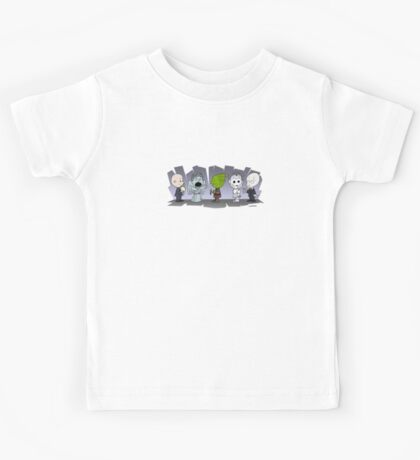 Doctor Who Monsters ... Peanuts Style Kids Tee