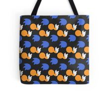 Sonic and Tails (black) Tote Bag