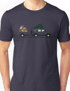 A Graphical Interpretation of the Defender 110 Utility Station Wagon Christmas Edition Unisex T-Shirt