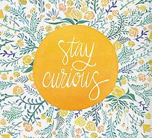 Stay Curious – Yellow & Green by Cat Coquillette