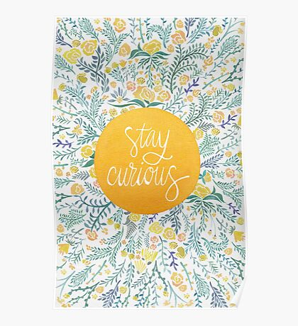 Stay Curious – Yellow & Green Poster