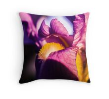 Violet flower closeup Throw Pillow