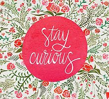 Stay Curious – Pink & Green by Cat Coquillette