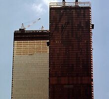 July, 1971 Construction The Twin Towers > by John Schneider