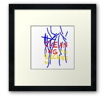 Cleaning the Screen - Red, Yellow, Blue Framed Print