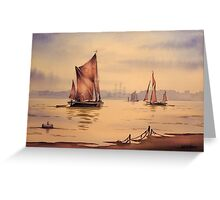 River Thames At Greenwich London Greeting Card
