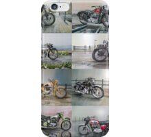 16 Classic British Motorcycles iPhone Case/Skin