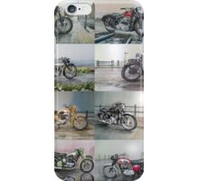 16 Classic British Motorcycles iPhone Case/Skin