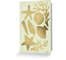 Gold Seashells Greeting Card