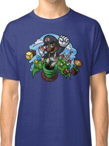 Black Mario and the Mushroom Kingdom Classic T-Shirt