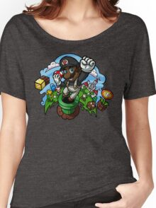 Black Mario and the Mushroom Kingdom Women's Relaxed Fit T-Shirt