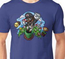 Black Mario and the Mushroom Kingdom Unisex T-Shirt