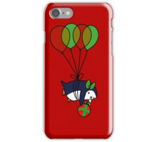 Christmas Balloon Penguin iPhone Case/Skin