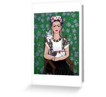 Frida cat lover Greeting Card