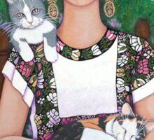 Frida cat lover Sticker