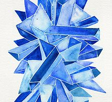Watercolor Sapphire by Cat Coquillette
