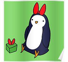 Christmas Gift Penguin Poster
