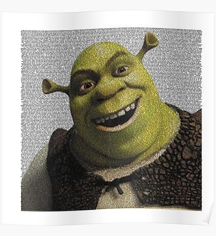 Shrek Movie Script Poster