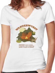 WanderWurst Women's Fitted V-Neck T-Shirt