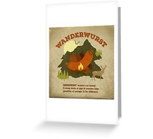 WanderWurst Greeting Card