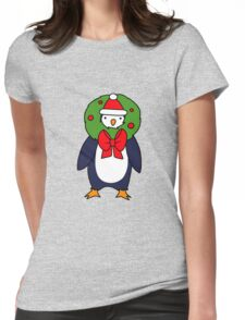 Christmas Reef Penguin Womens Fitted T-Shirt