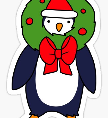 Christmas Reef Penguin Sticker