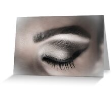Eye makeup in shades of gray Greeting Card