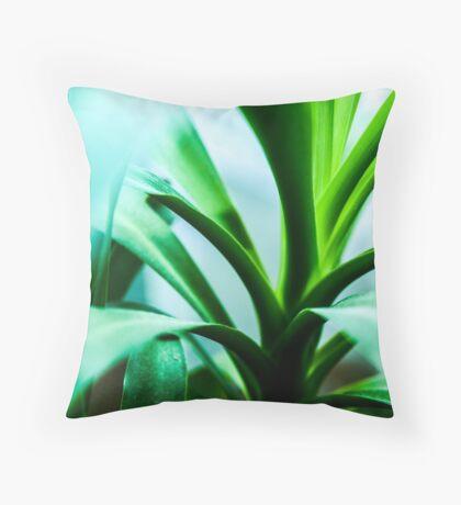 Green plant Throw Pillow