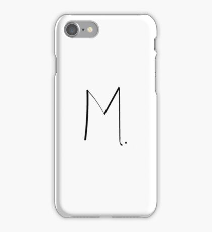 Initial M. iPhone Case/Skin