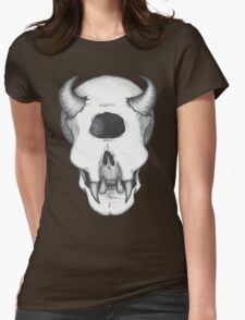 Cyclops Skull Womens Fitted T-Shirt