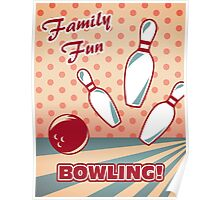 Vintage Bowling Ad Poster