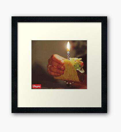 Birthday Taco - Utopia Framed Print