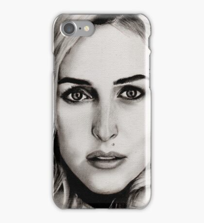 Gillian Anderson Oil iPhone Case/Skin