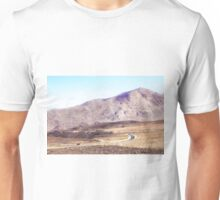road in the middle of the desert at Death Valley national park, USA Unisex T-Shirt