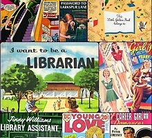 Mid-century Book Cover Collage by mimiboo