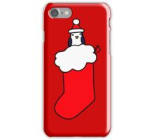 Christmas Stocking Penguin iPhone Case/Skin