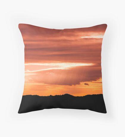 Black in orange Throw Pillow