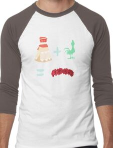 Dress Plus Animal Sidekick Equals Princess- Moana Men's Baseball ¾ T-Shirt