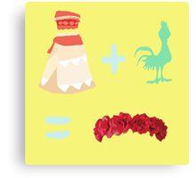 Dress Plus Animal Sidekick Equals Princess- Moana Canvas Print