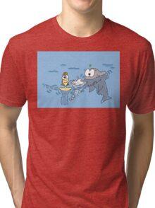 shark repellent Tri-blend T-Shirt