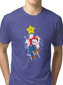 Super Mario Splattery T-Shirt Tri-blend T-Shirt