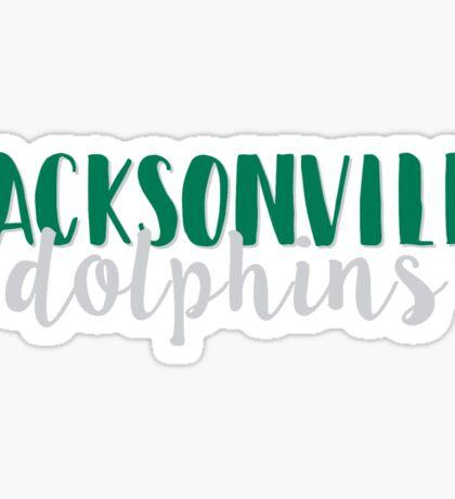 Jacksonville Dolphins Sticker