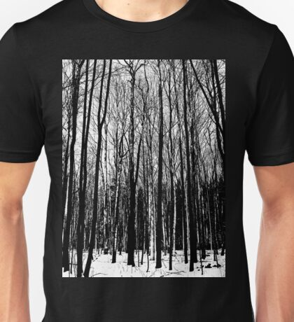 Black And White Forest Unisex T-Shirt