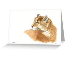 Mountain Lion painting Greeting Card