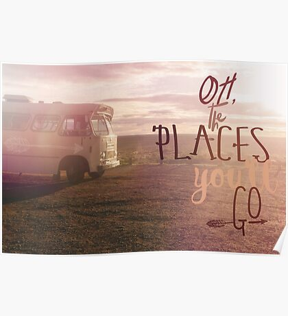 Oh the Places You'll Go orange Poster