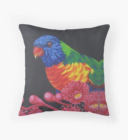 Rainbow Lorikeet Parrot #1 Throw Pillow