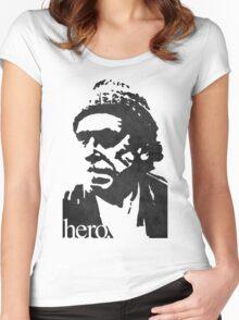 Hero - Charles Bukowski Women's Fitted Scoop T-Shirt