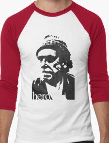 Hero - Charles Bukowski Men's Baseball ¾ T-Shirt